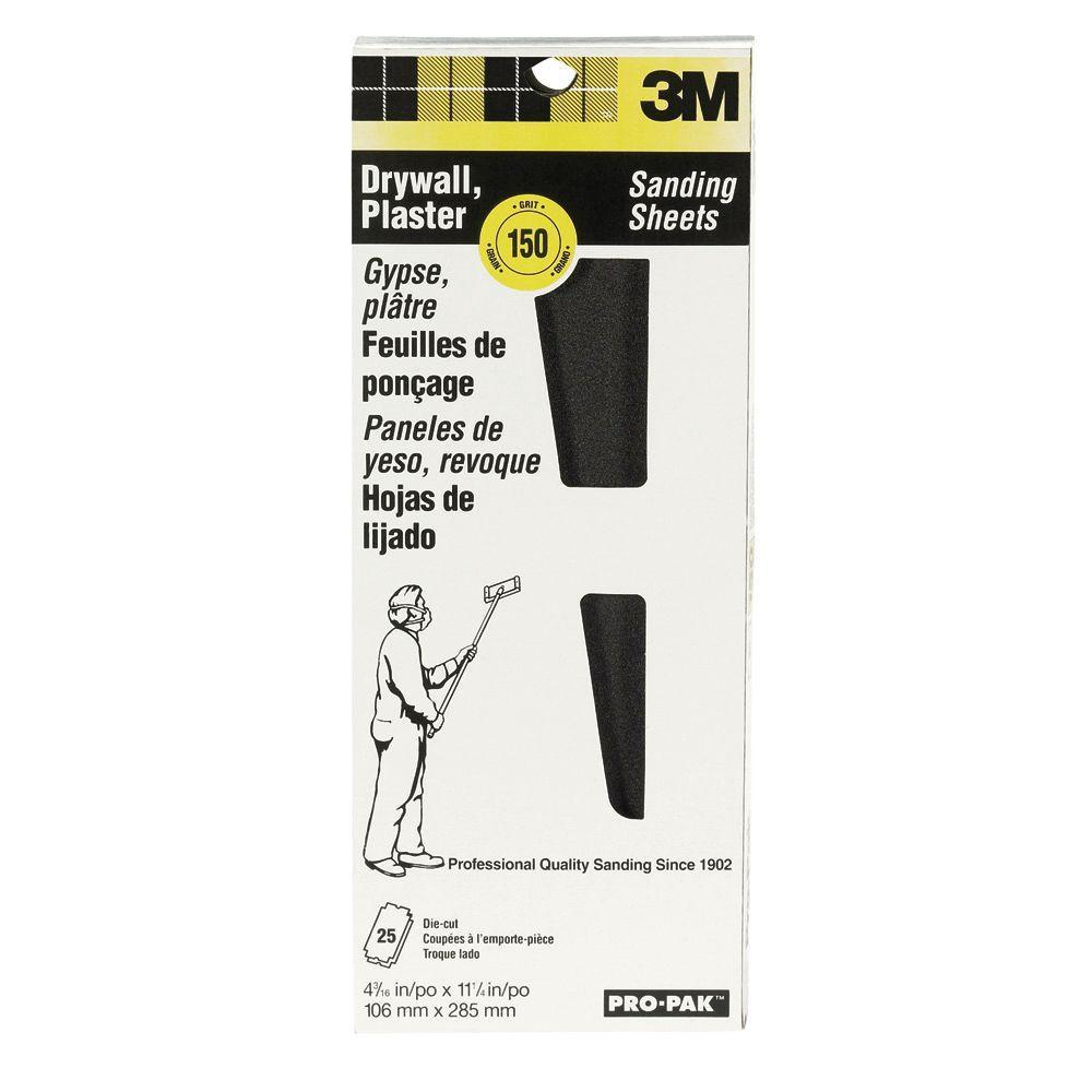 Pro-Pak 4-3/16 in. x 11-1/4 in. 150 Medium Grit Sanding Sheets