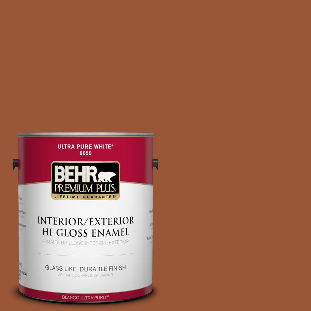 1-gal. #230D-7 Cinnamon Brandy Hi-Gloss Enamel Interior/Exterior Paint
