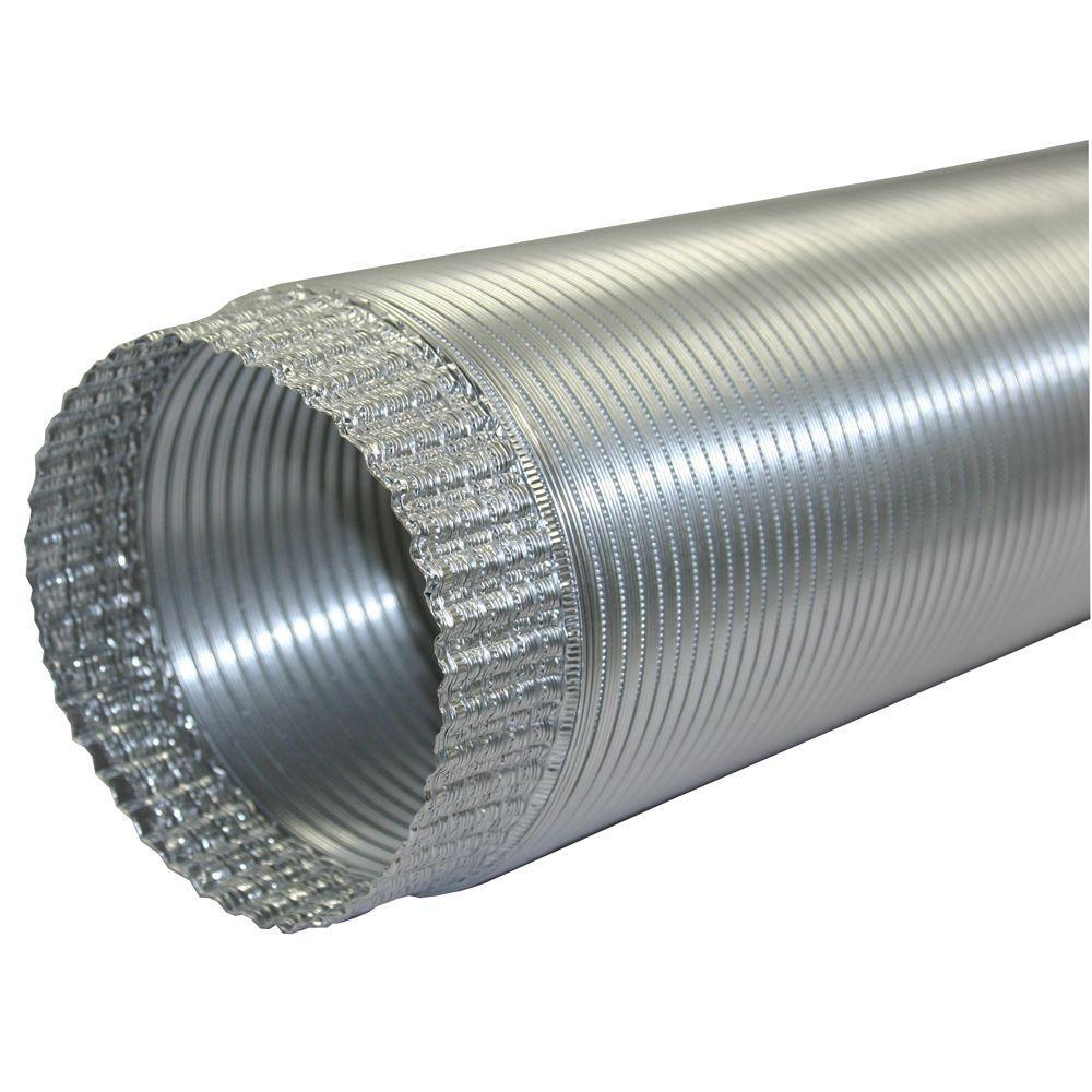 7 in. x 96 in. Aluminum Flex Pipe Crimped One End