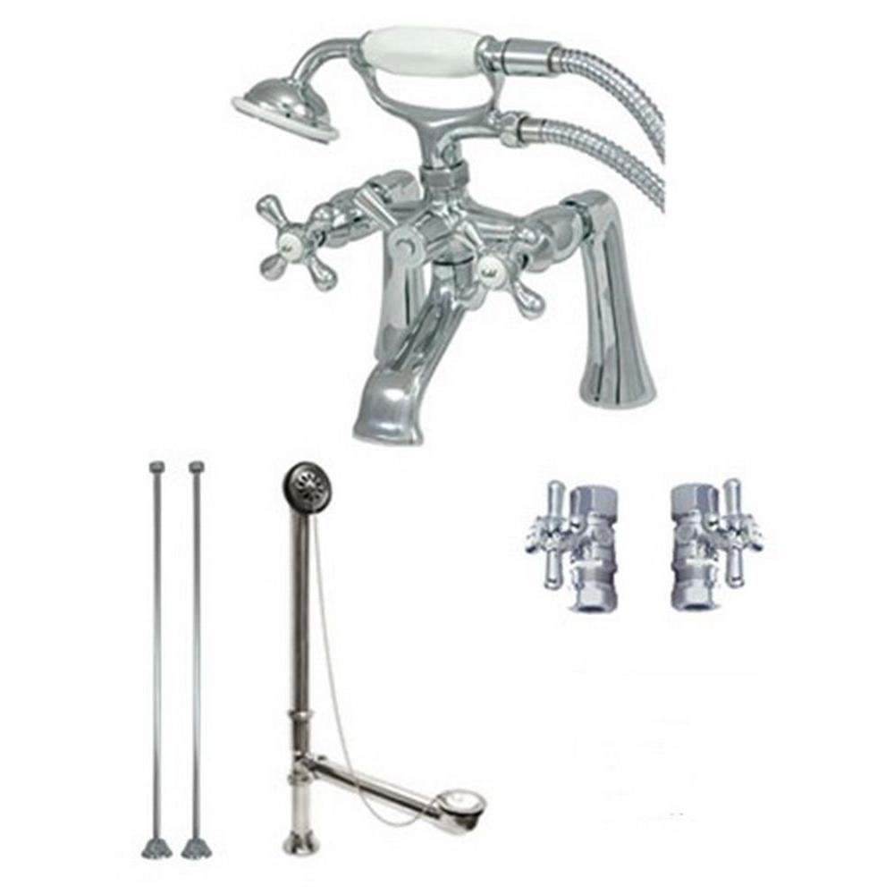 ... tiered pressure valve trim, and a uniquely shaped tub spout. Featuring  a rainfall shower head, this set is a great way to update your bathroom  with a ...