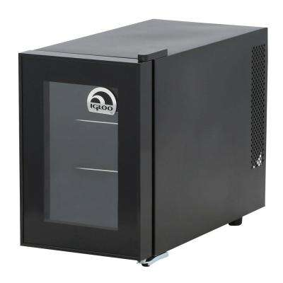 10.9 in. 6-Bottle Wine Cooler with One Temperature Zone
