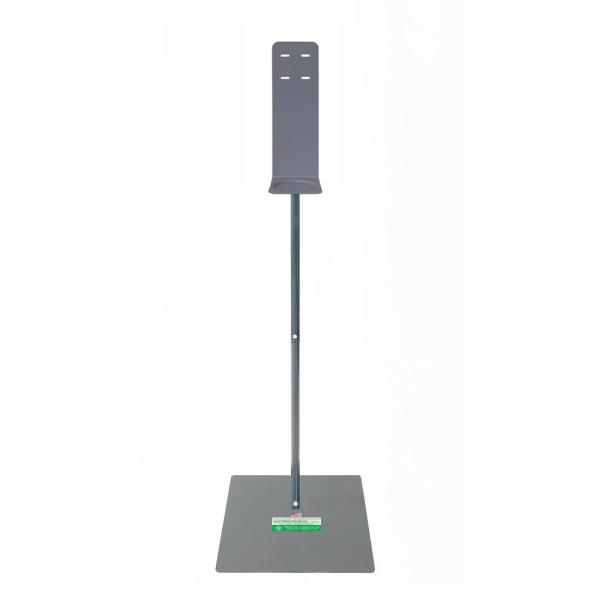 Antimicrobial Hand Sanitizer Dispenser Stand, Gray
