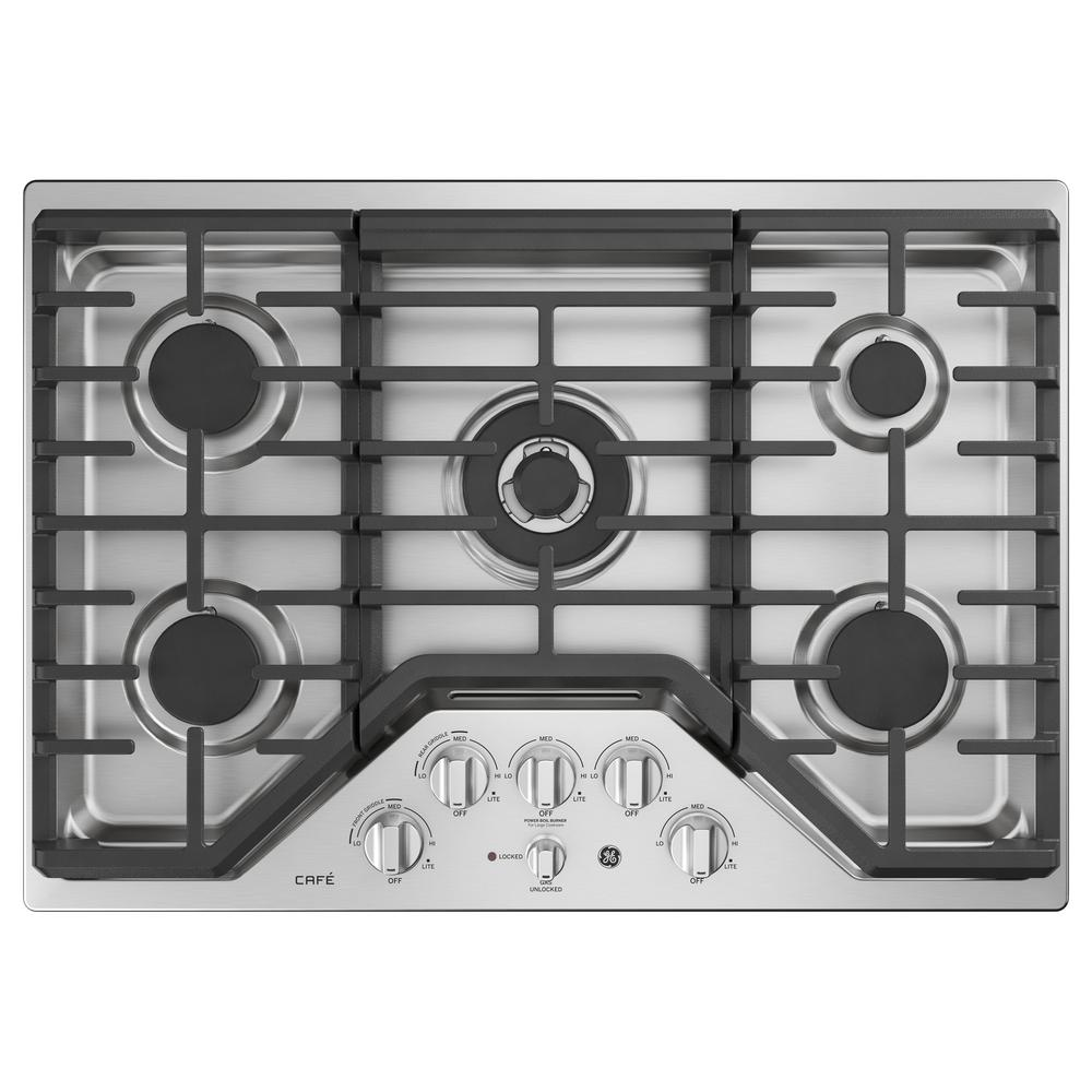 30 in. Built-In Gas Cooktop in Stainless Steel with 5 Burners