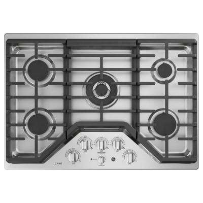 Cafe 30 in. Built-In Gas Cooktop in Stainless Steel with 5 Burners Including Tri-Ring Burner