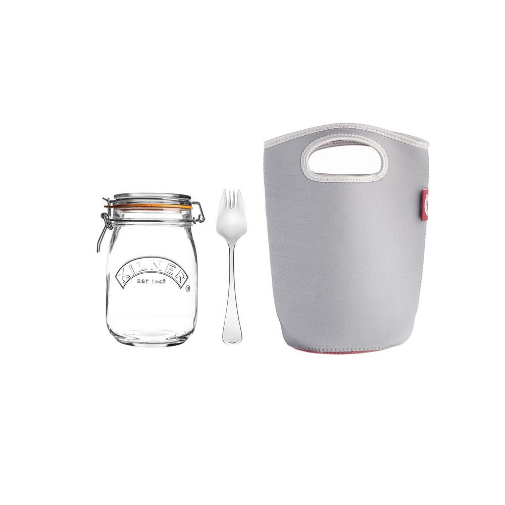 34 Fl oz Glass Make and Take Jar Set