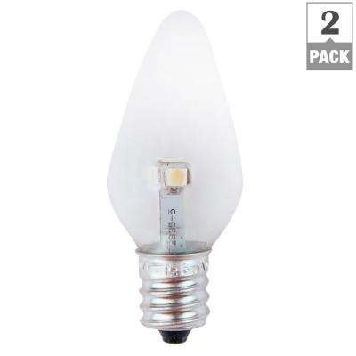 7W Equivalent Super Blue Clear-C7 Non-Dimmable LED Replacement Light Bulb (2-Pack)