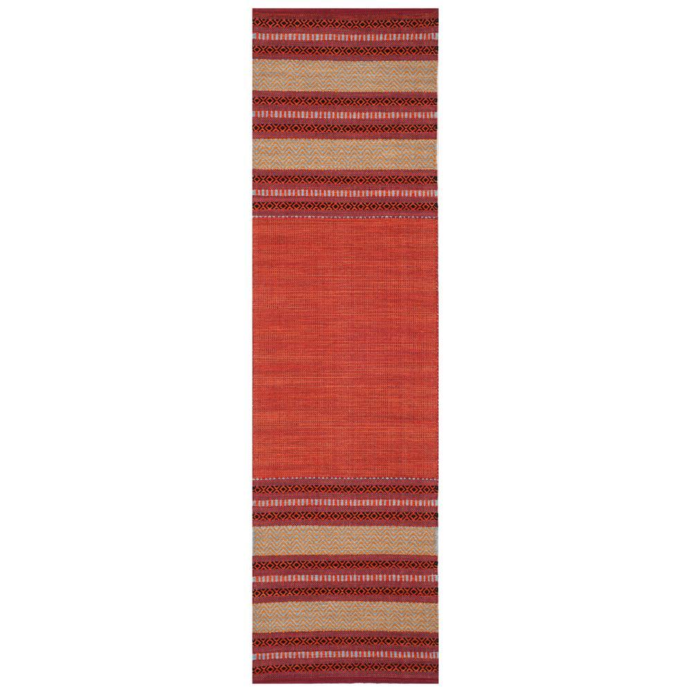 Montauk Red/Ivory 2 ft. 3 in. x 8 ft. Runner Rug