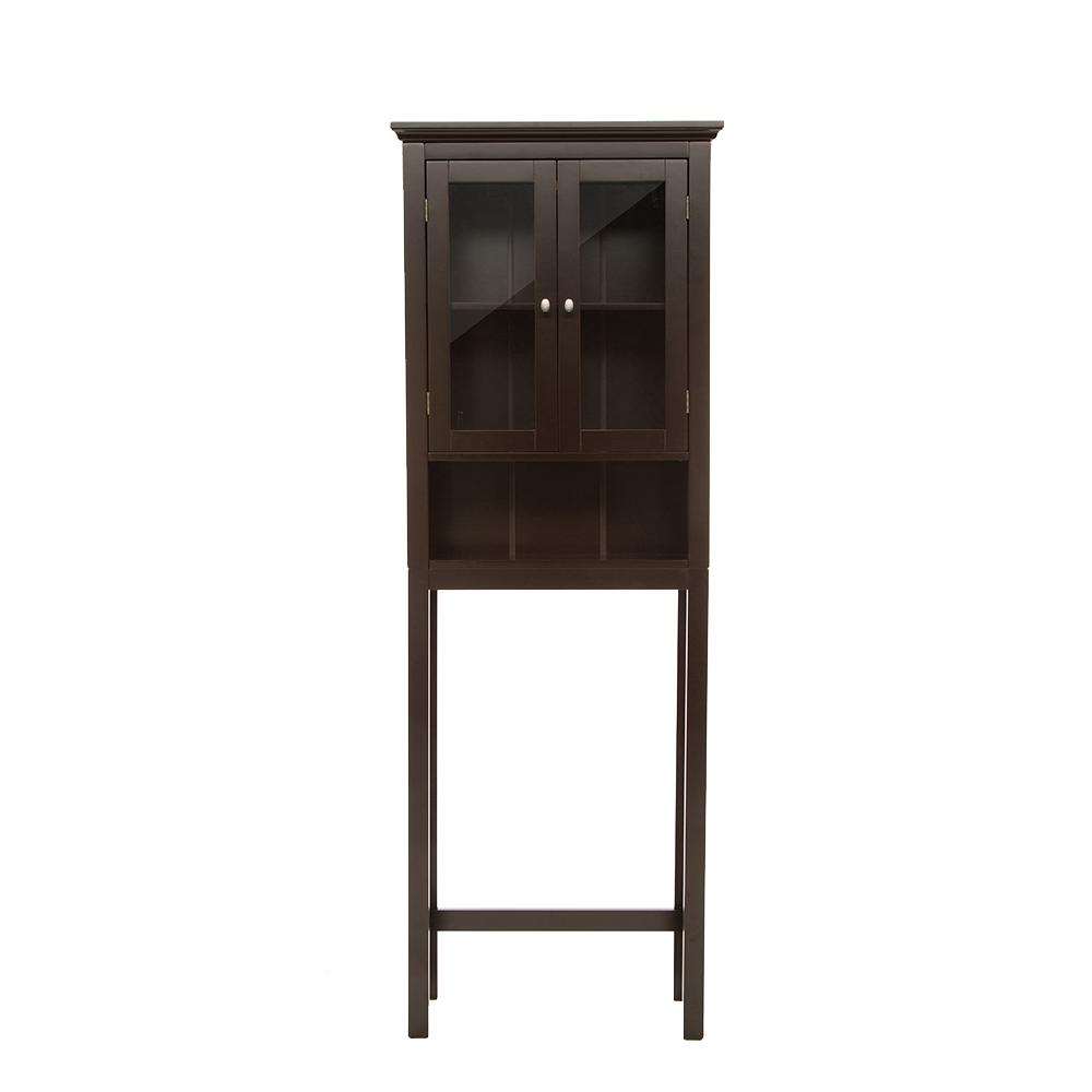 H espresso brown cabinet