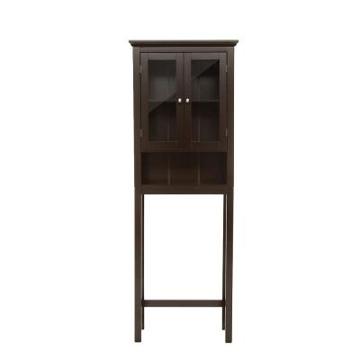 68.26 in. H Espresso Brown Cabinet