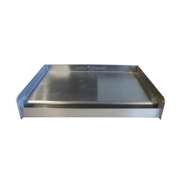 Little Griddle Universal 13 In Stainless Steel Bbq Griddle 00022 The Home Depot