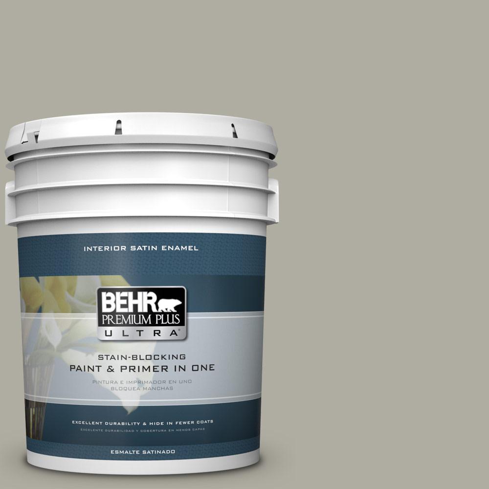 5 gal. #PPU25-06 Wells Gray Satin Enamel Interior Paint