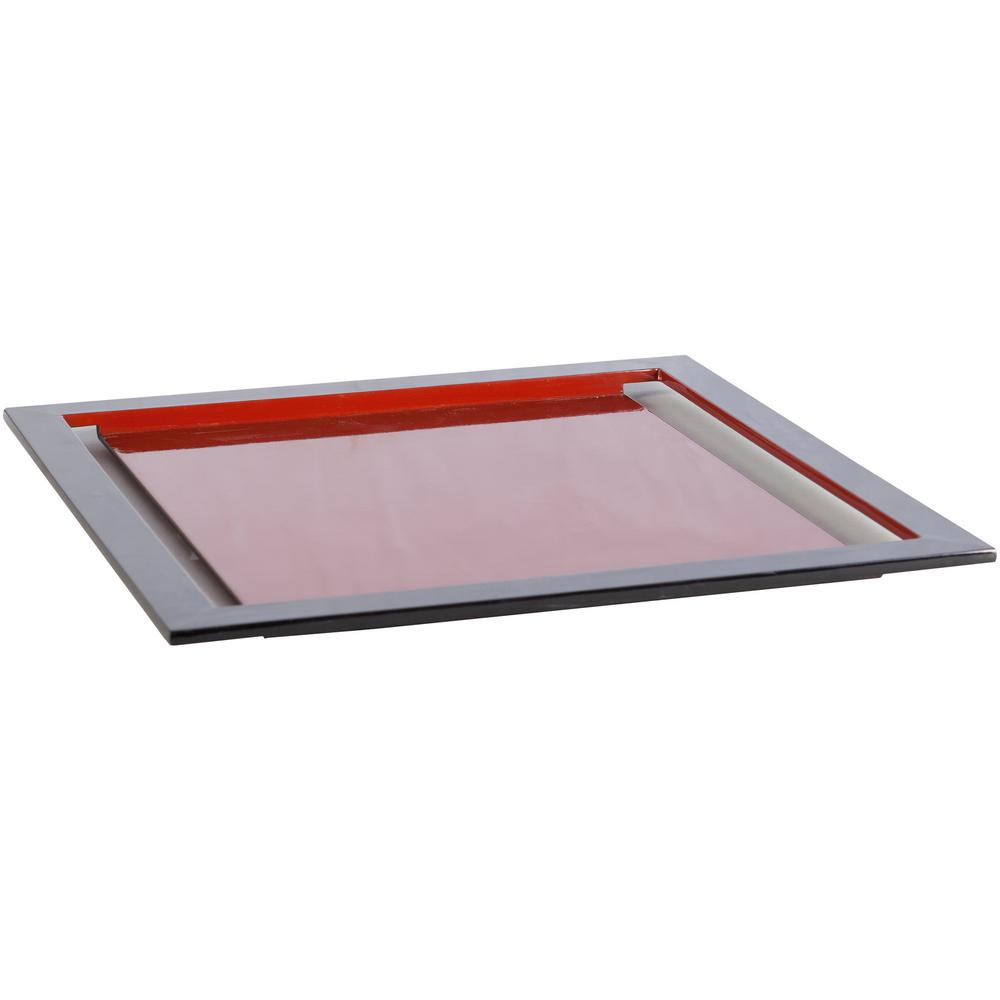 Locatax Rust 18 in. Decorative Tray