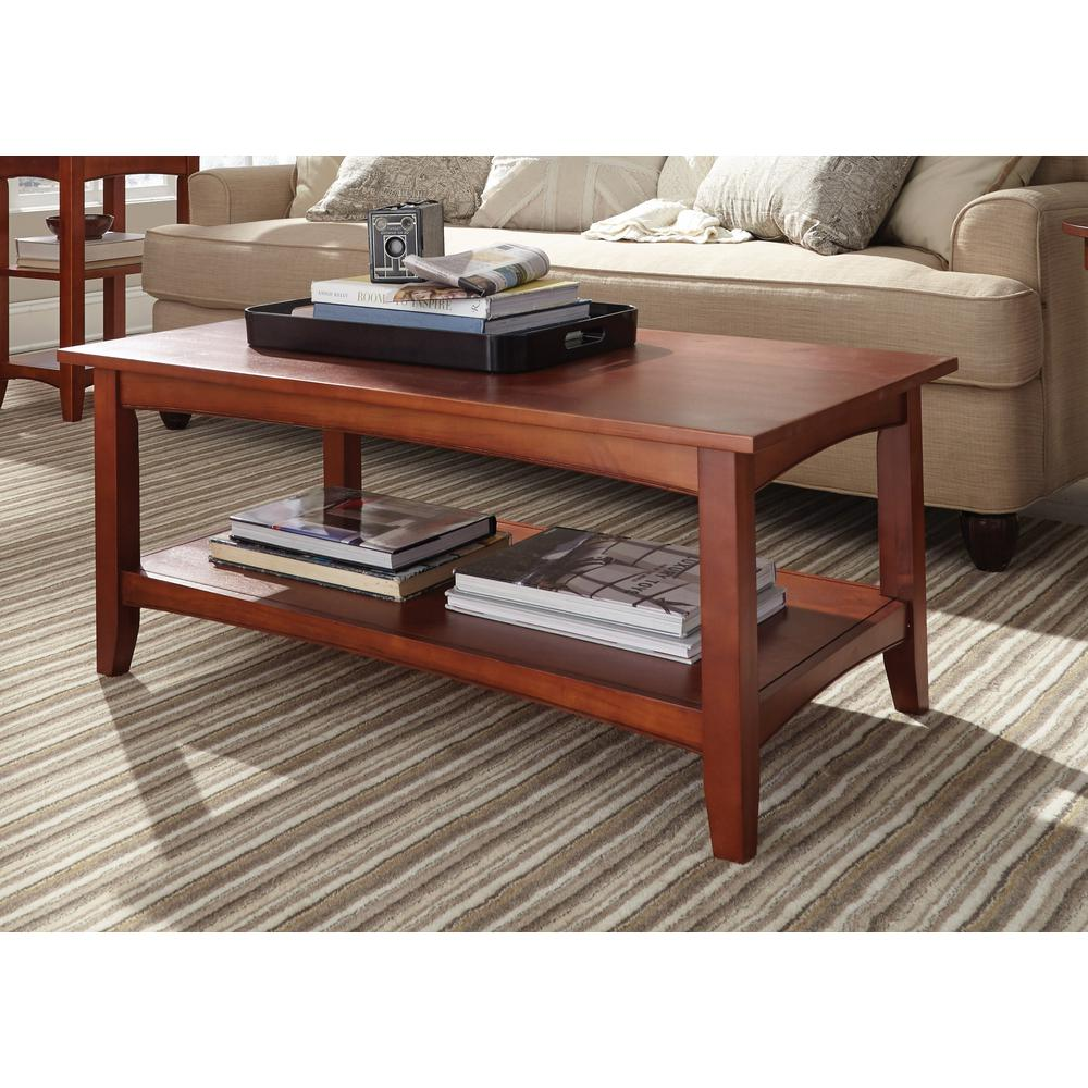 Beau Alaterre Furniture Shaker Cottage Cherry Storage Coffee Table