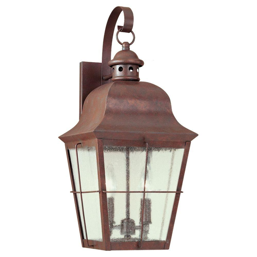 Chatham 2-Light Outdoor Weathered Copper Wall Mount Fixture