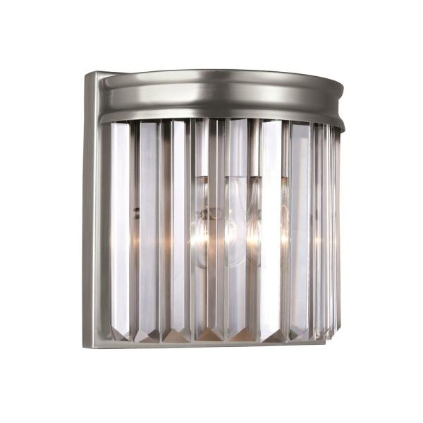 Carondelet 1-Light Antique Brushed Nickel Sconce with LED Bulb