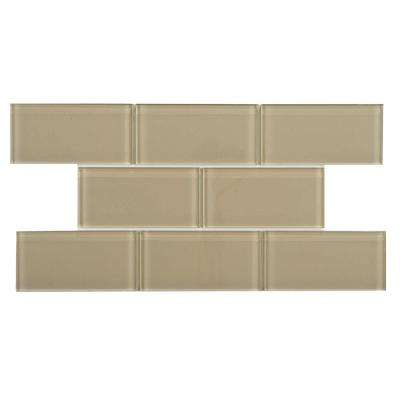 Tessera Subway Sandstone 3 in. x 6 in. Glass Wall Tile (1 sq. ft. / pack)