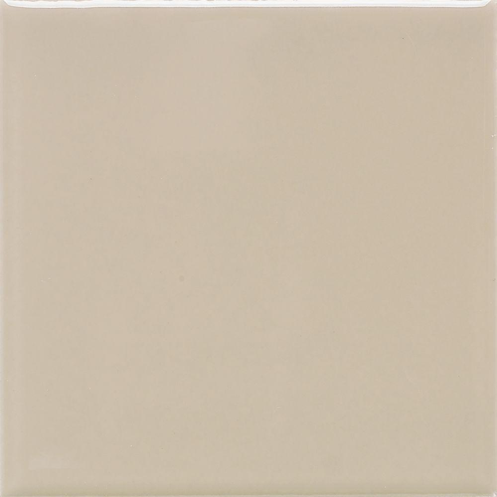 Daltile Matte Urban Putty 4-1/4 in. x 4-1/4 in. Ceramic Wall Tile (12.5 sq. ft. / case)