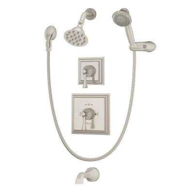 Canterbury 2-Handle Tub and Shower Faucet Trim Kit in Satin Nickel (Valve Not Included)