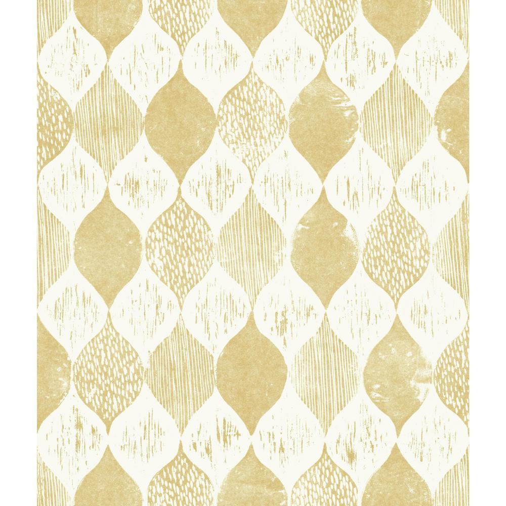 56 sq.ft. Woodblock Print Wallpaper