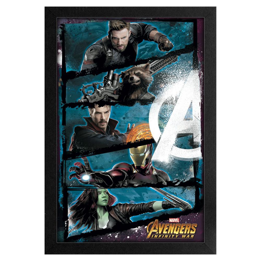 Avengers -Infinity War- Panels 11x17 Framed Print
