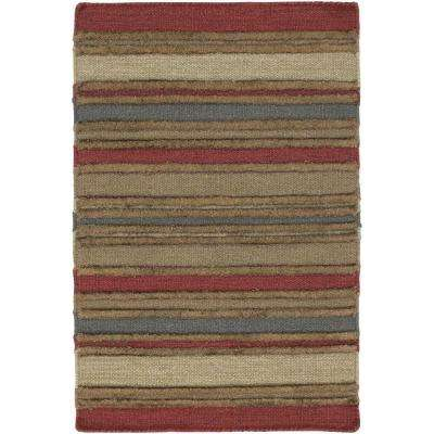 Kilim Red/Brown/Blue 3 ft. 6 in. x 5 ft. 6 in. Indoor Area Rug