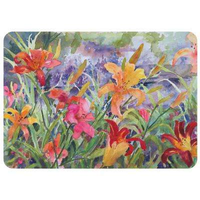 Day Lilies 22 in. x 31 in. Polyester Surface Mat