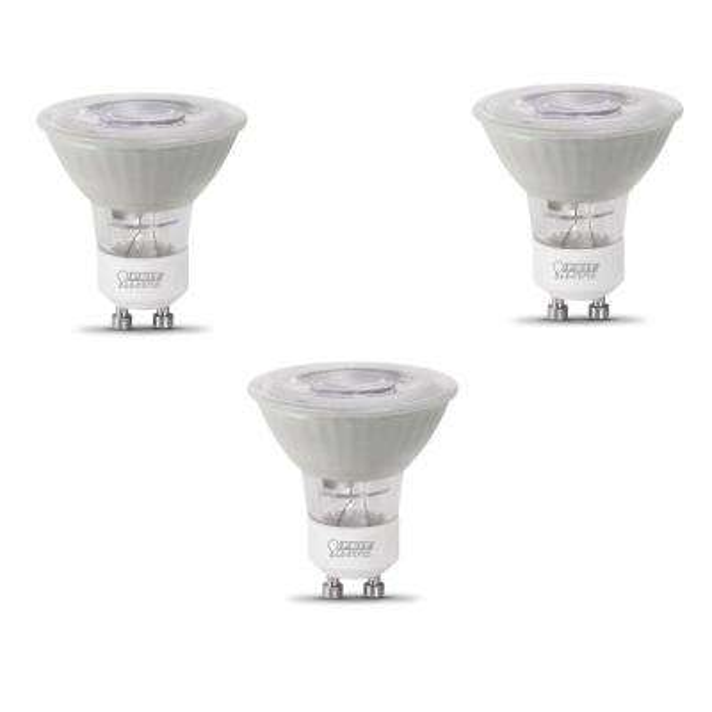 50-Watt Equivalent MR16 GU10 Dimmable LED ENERGY STAR 90+ CRI Frosted Flood Light Bulb, Daylight (3-Pack)