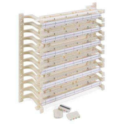 Cat 5e 110-Style Wiring Block Kit, Wall Mount with Legs, C-4 Connector Clips, Ivory (300-Pair)