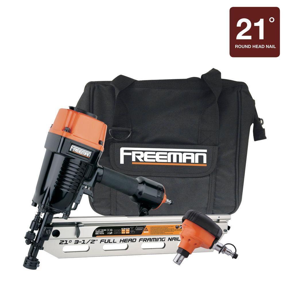 21 Degree Framing Nailer and Palm Nailer Combo with Canvas Bag