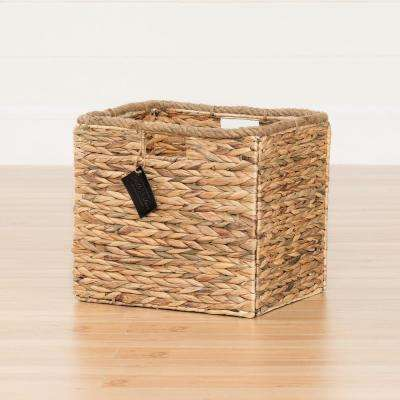 14 in. x 12 in. Storit Beige Rattan Basket