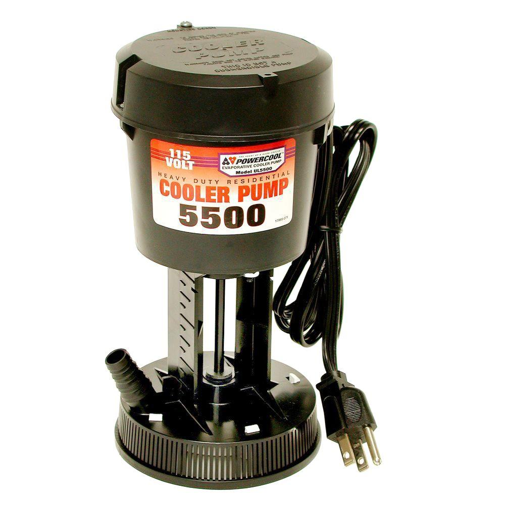Powercool Dial Ul5500 115 Volt Evaporative Cooler Pump 1150 The Home Depot