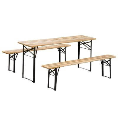 6 ft. Wooden Folding Picnic Outdoor Table Bench Set