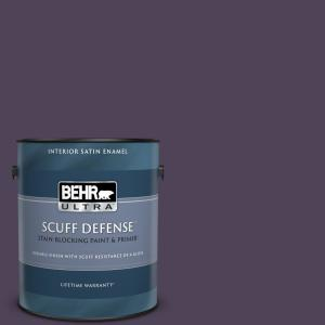 Behr Ultra 1 Gal Mq5 39 Artistic License Extra Durable Semi Gloss Enamel Interior Paint And Primer In One 375301 The Home Depot