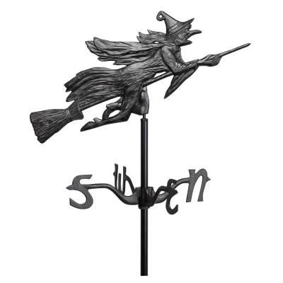 Black Flying Witch Garden Weathervane