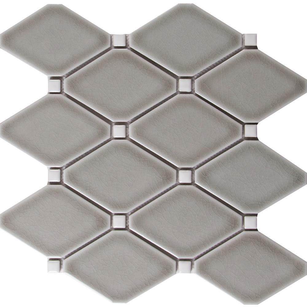 MS International Dove Gray 12.28 in. x 12.8 in. x 8 mm Glazed Ceramic Mesh-Mounted Mosaic Tile (10.9 sq. ft. / case)