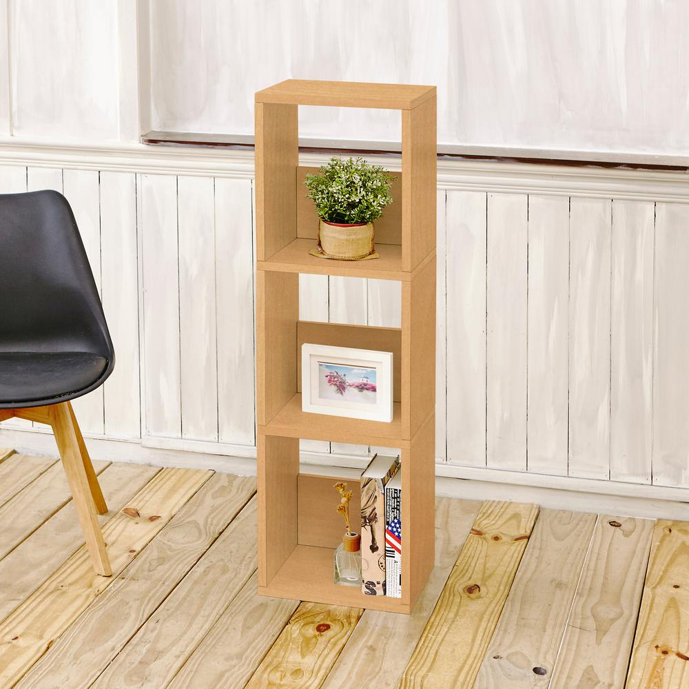 Way Basics Trio Eco zBoard Tool Free Assembly Natural Open Bookcase