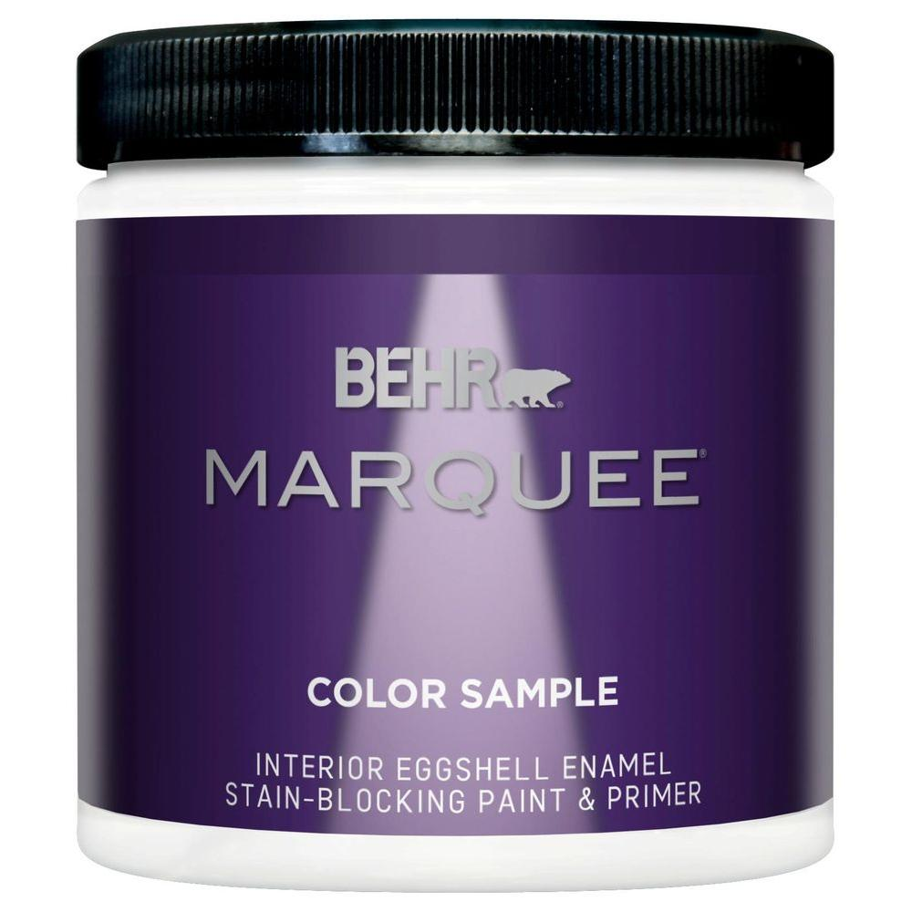 Behr marquee 8 oz ultra pure white eggshell enamel interior exterior paint and primer sample for Behr exterior paint with primer reviews