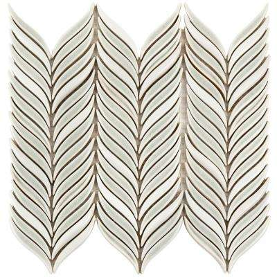 Oracle Alula Tundra 10-1/4 in. x 11-7/8 in. x 10mm Glazed Ceramic Mosaic Tile