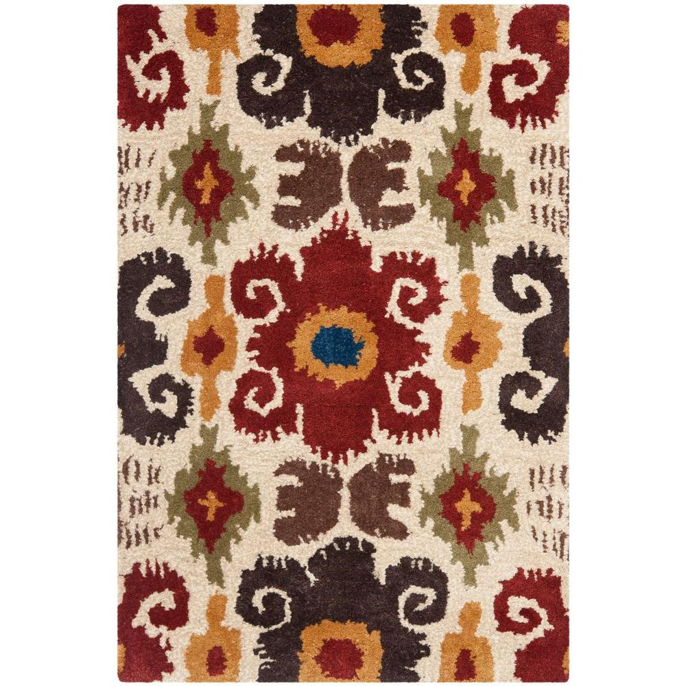 Safavieh Soho Ivory/Red 3 ft. 6 in. x 5 ft. 6 in. Area Rug
