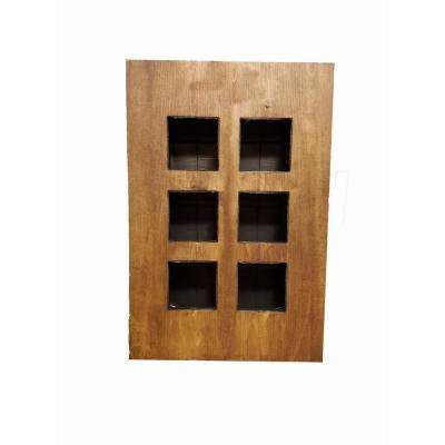 Wall Mounted Walnut Frame