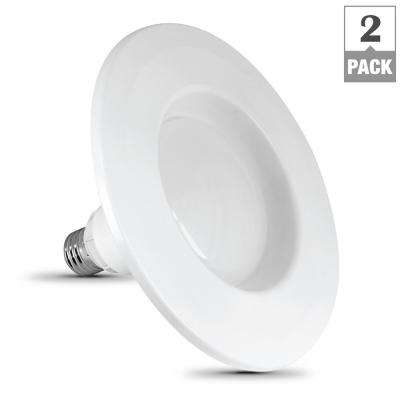 InstaTRIM 5 in./6 in. 65-Watt Equivalent BR30 Dimmable LED 90+ CRI Recessed Light Bulb, Daylight (2-Pack)
