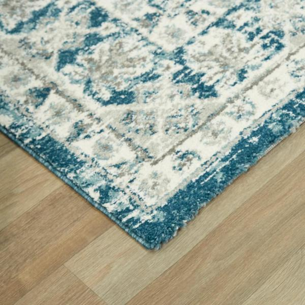 Balta Roche Teal 8 Ft X 10 Ft Distressed Oriental Area Rug 3005535 The Home Depot