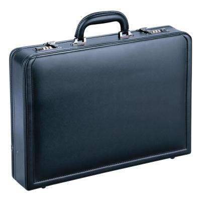 Expandable Black Attache Case for 15.6 in. Laptop