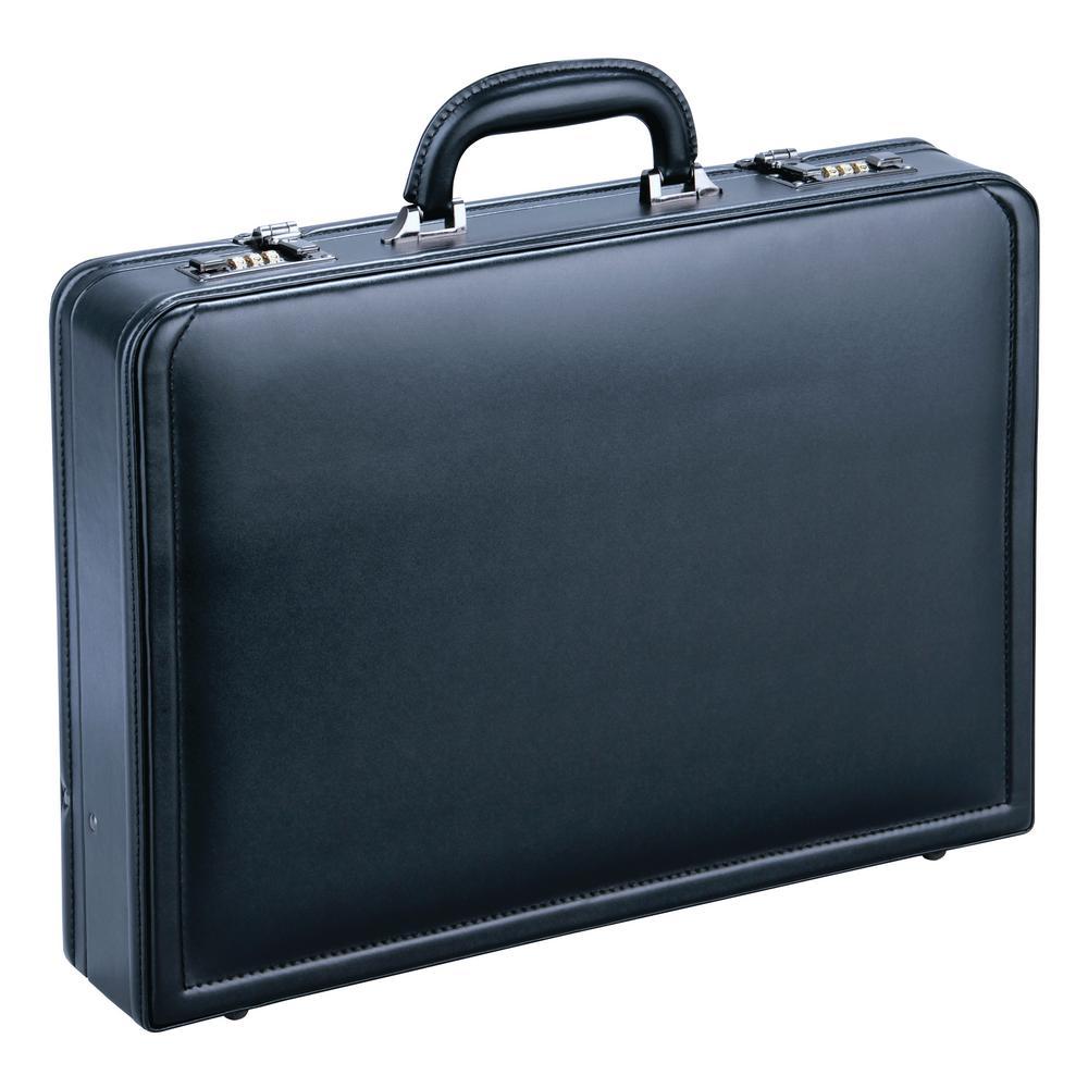 MANCINI Expandable Black Attache Case for 15.6 in. Laptop-ML-86470-BLK -  The Home Depot e10ed93d069d4