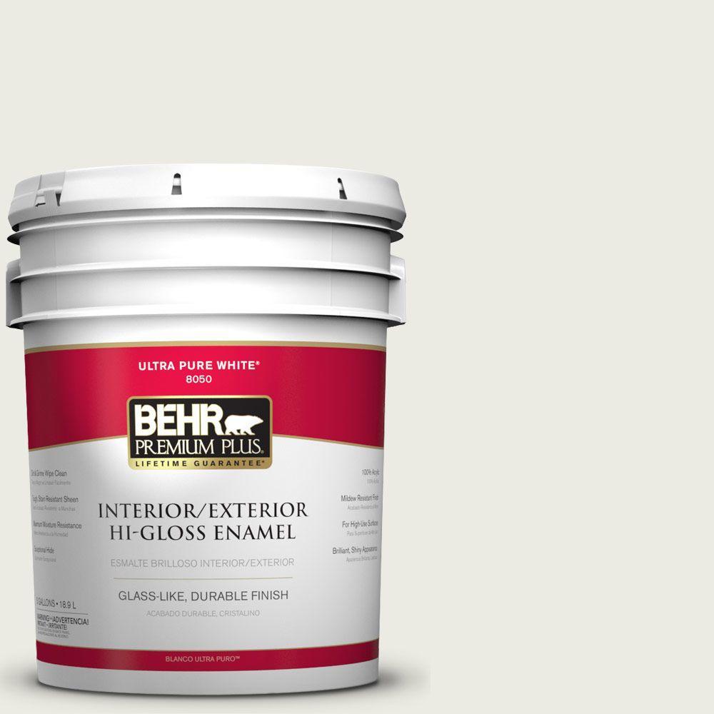 5-gal. #GR-W8 Arcade White Hi-Gloss Enamel Interior/Exterior Paint