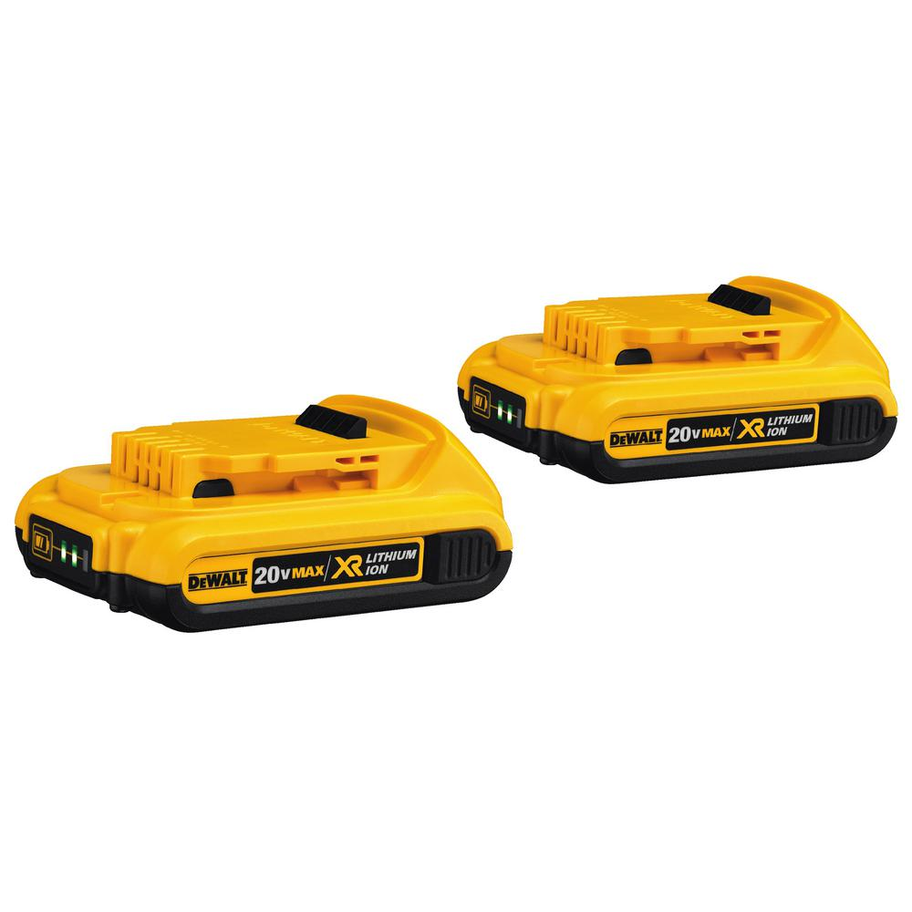 DEWALT 20-Volt MAX XR Lithium-Ion Compact Battery Pack 2.0Ah (2-Pack)