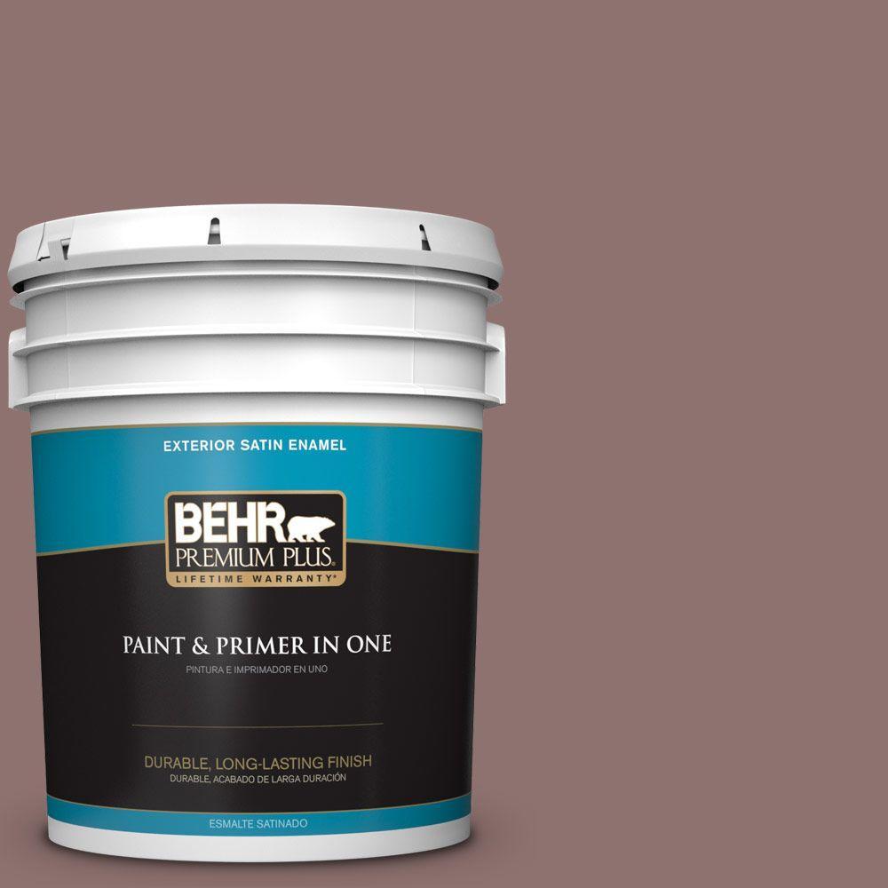 BEHR Premium Plus 5-gal. #720B-5 Bitter Briar Satin Enamel Exterior Paint