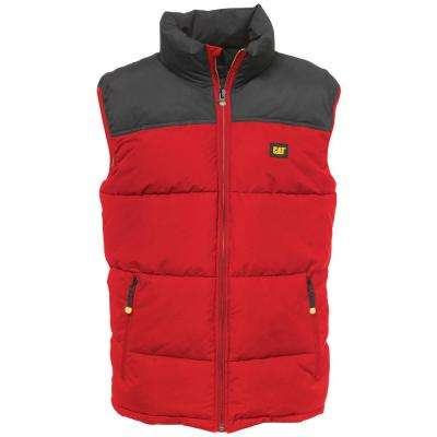 Arctic Zone Men's Large Red/Black Polyester Vest