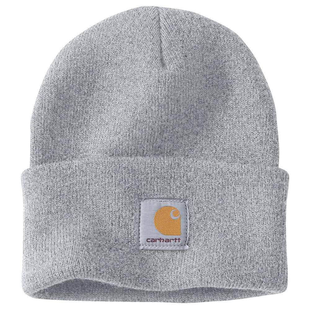 540eeeeb808 Carhartt Men s OFA Heather Gray Acrylic Hat Headwear-A18-HGY - The ...