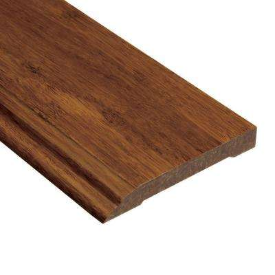 Strand Woven Saddle 1/2 in. Thick x 3-1/2 in. Wide x 94 in. Length Bamboo Wall Base Molding